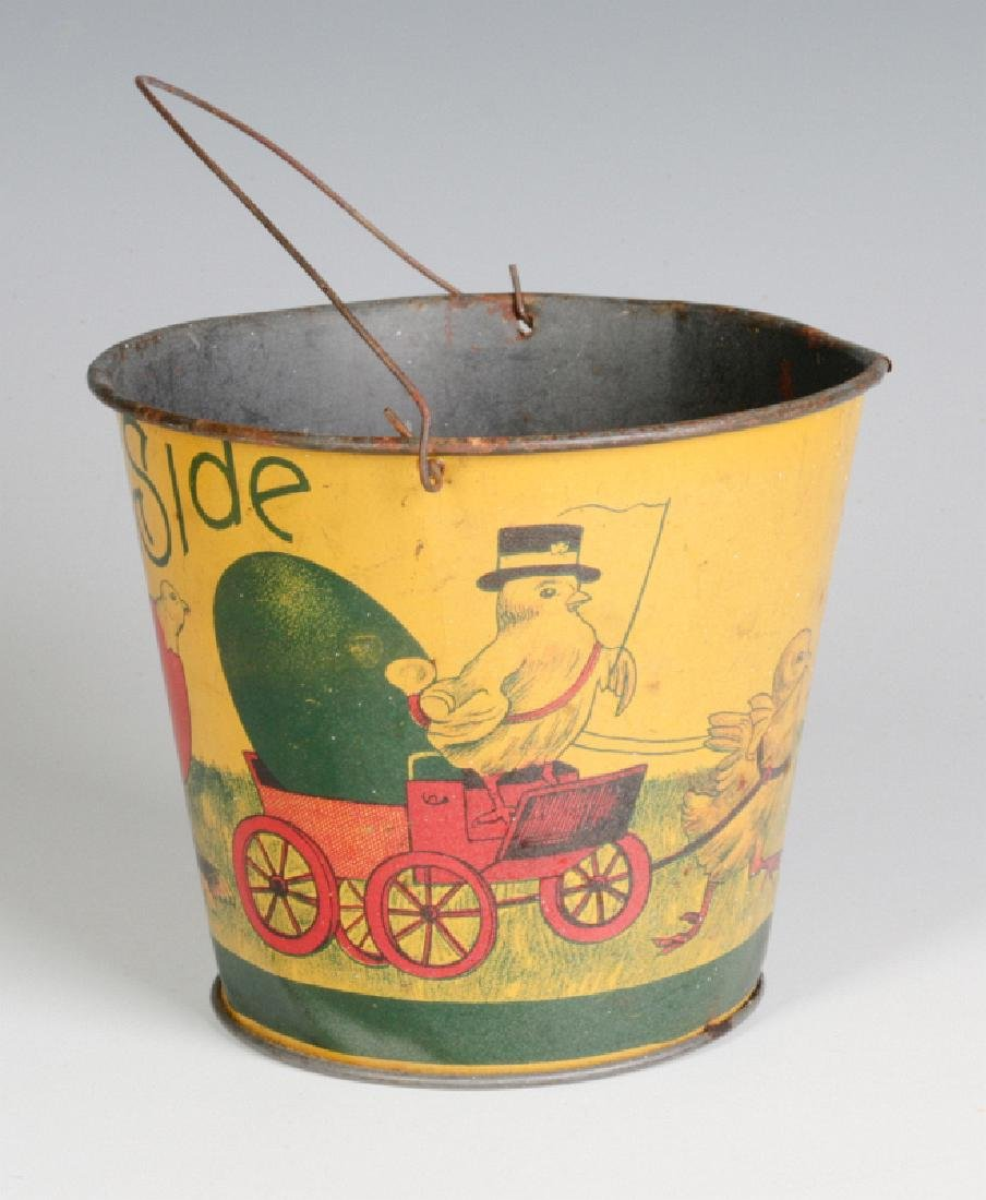 A VICTORIAN CHILD'S TIN LITHO EASTER SAND PAIL - 4