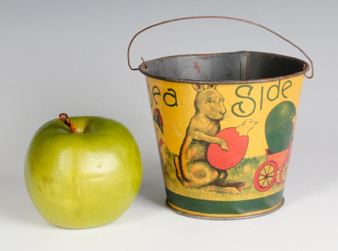 A VICTORIAN CHILD'S TIN LITHO EASTER SAND PAIL - 5