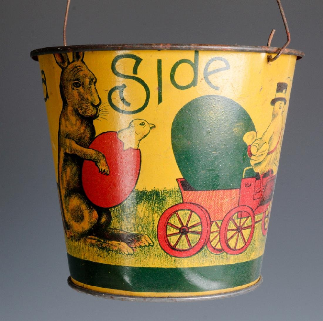 A VICTORIAN CHILD'S TIN LITHO EASTER SAND PAIL - 6