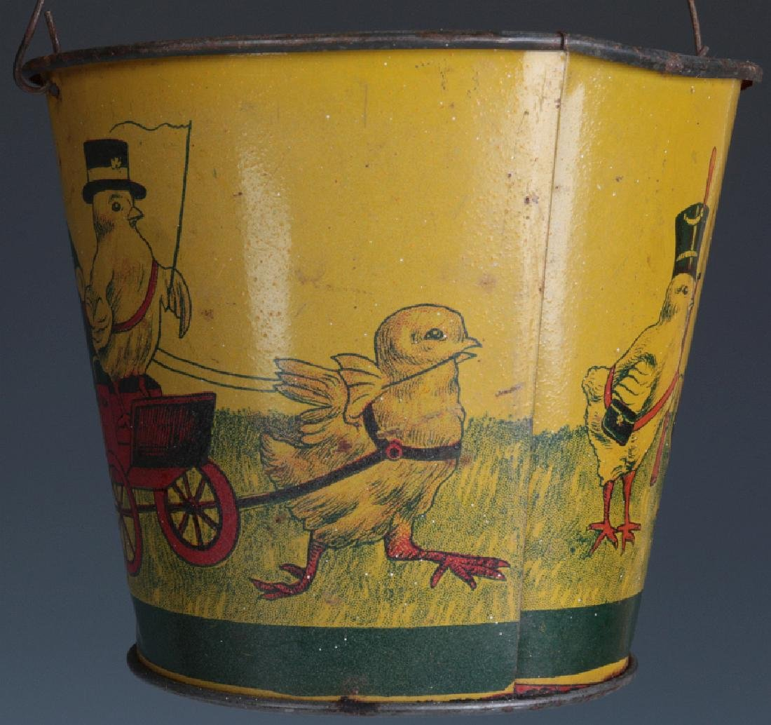 A VICTORIAN CHILD'S TIN LITHO EASTER SAND PAIL - 7