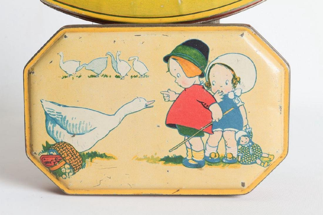 A PAIR OF TIN LITHO TOFFEE TINS - 3