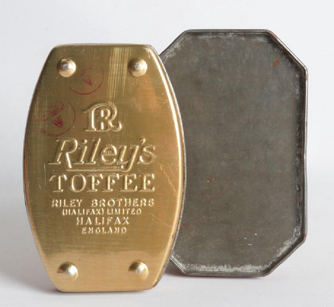 A PAIR OF TIN LITHO TOFFEE TINS - 5