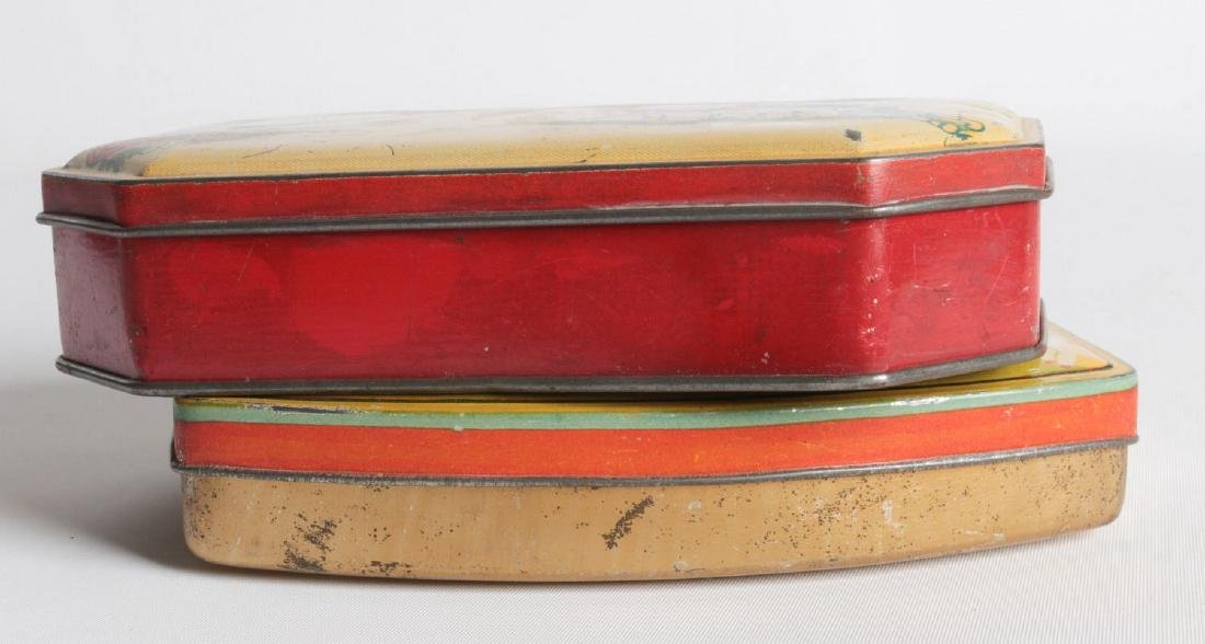 A PAIR OF TIN LITHO TOFFEE TINS - 6