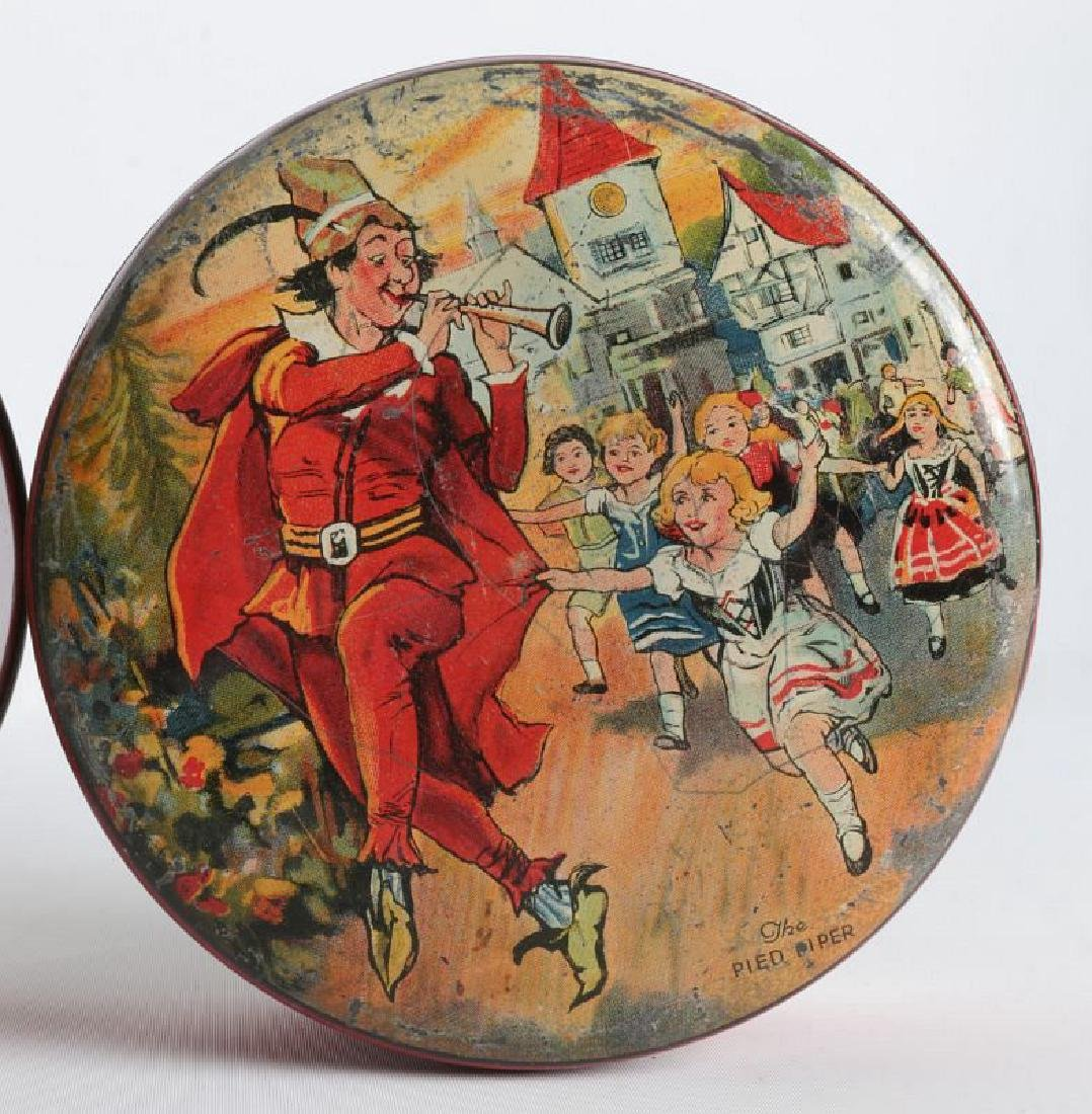 PIED PIPER AND MOTHER GOOSE LITHOGRAPHED TINS - 2