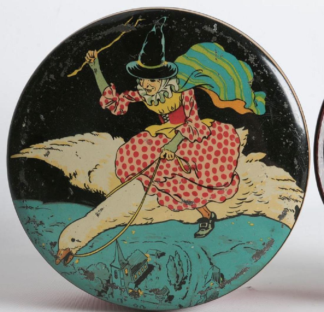 PIED PIPER AND MOTHER GOOSE LITHOGRAPHED TINS - 3