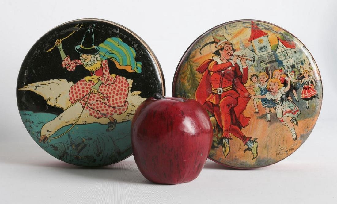 PIED PIPER AND MOTHER GOOSE LITHOGRAPHED TINS - 4