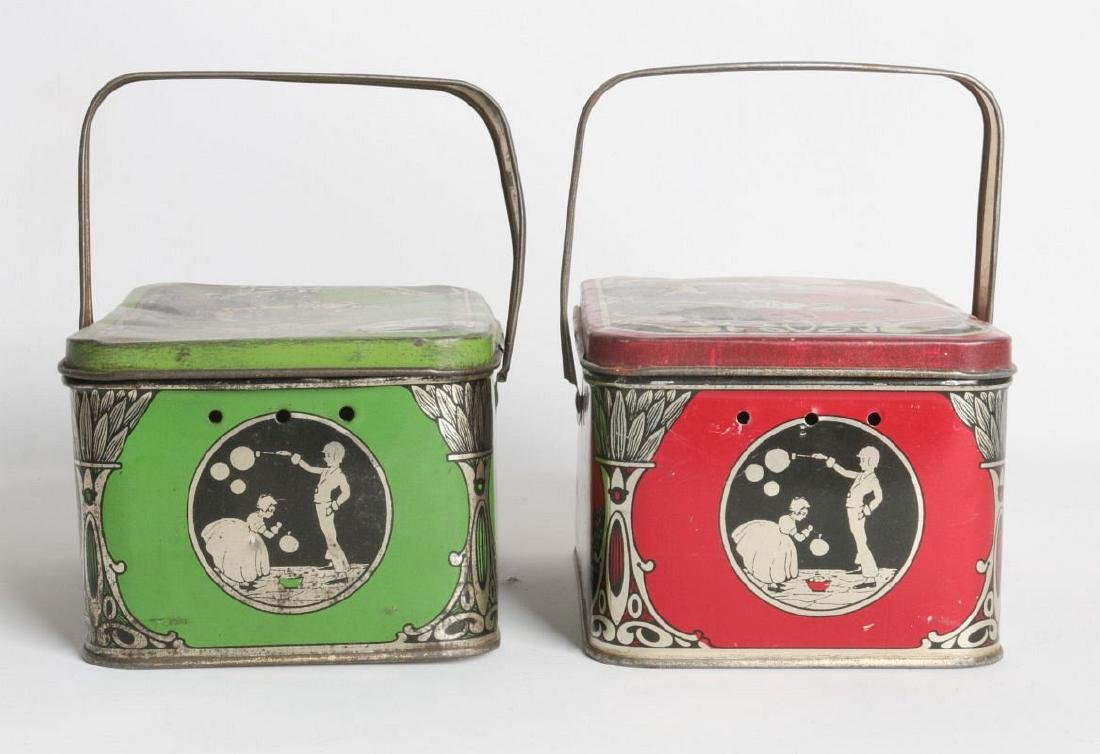 A PAIR OF TIN LITHO CHILD'S LUNCH TINS - 3