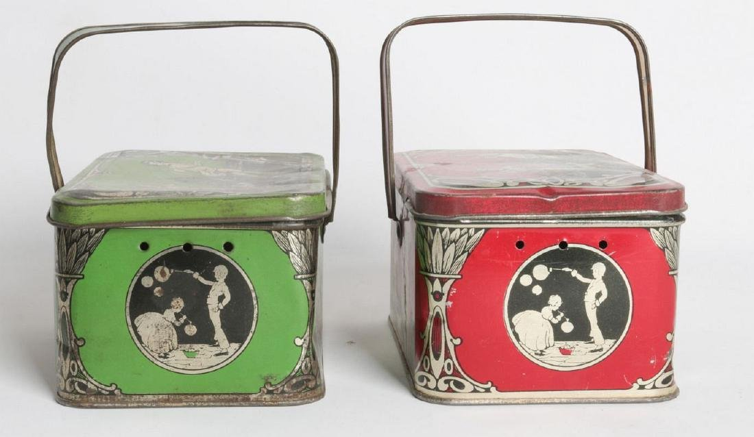 A PAIR OF TIN LITHO CHILD'S LUNCH TINS - 4