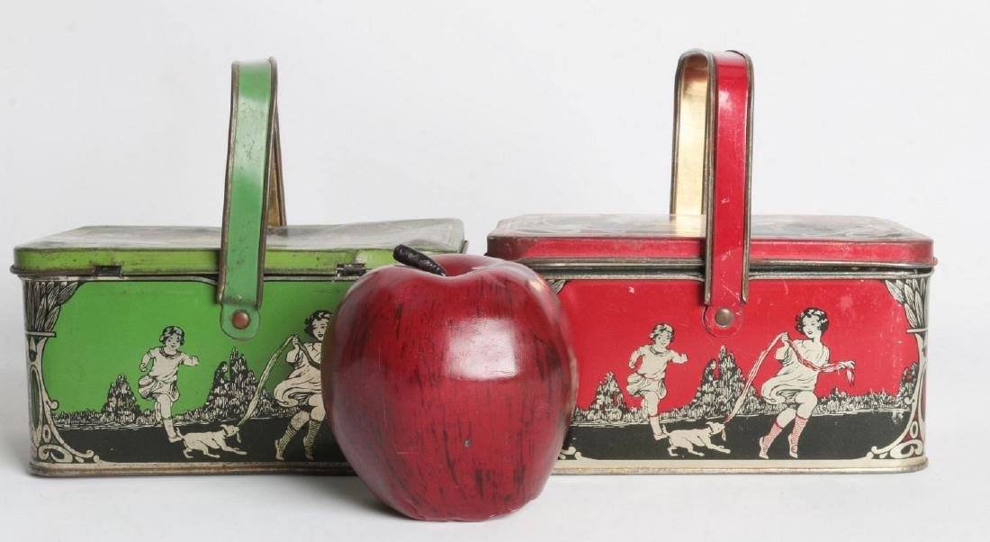 A PAIR OF TIN LITHO CHILD'S LUNCH TINS - 5