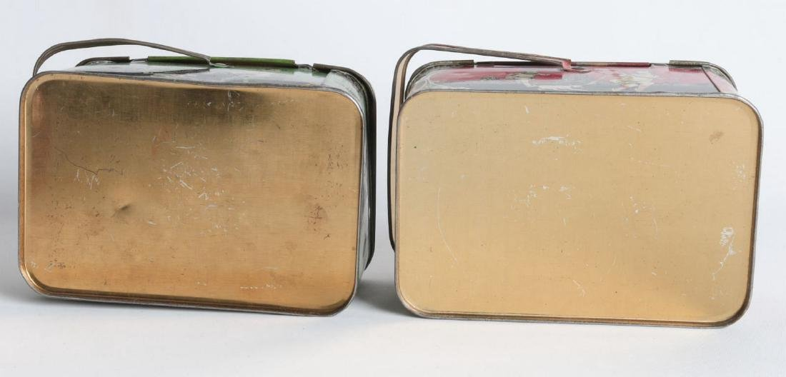 A PAIR OF TIN LITHO CHILD'S LUNCH TINS - 7