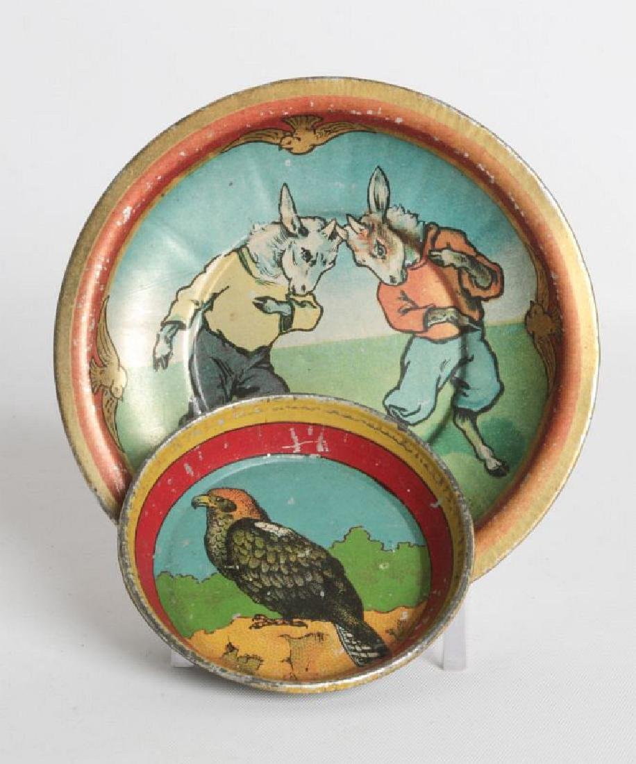 CHILDREN'S TIN LITHO TEA CUPS AND SAUCERS - 3