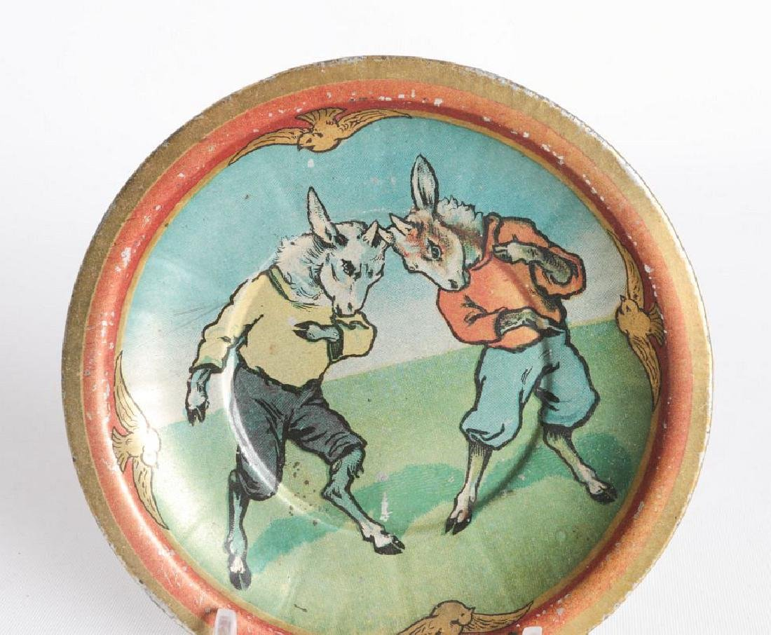 CHILDREN'S TIN LITHO TEA CUPS AND SAUCERS - 5
