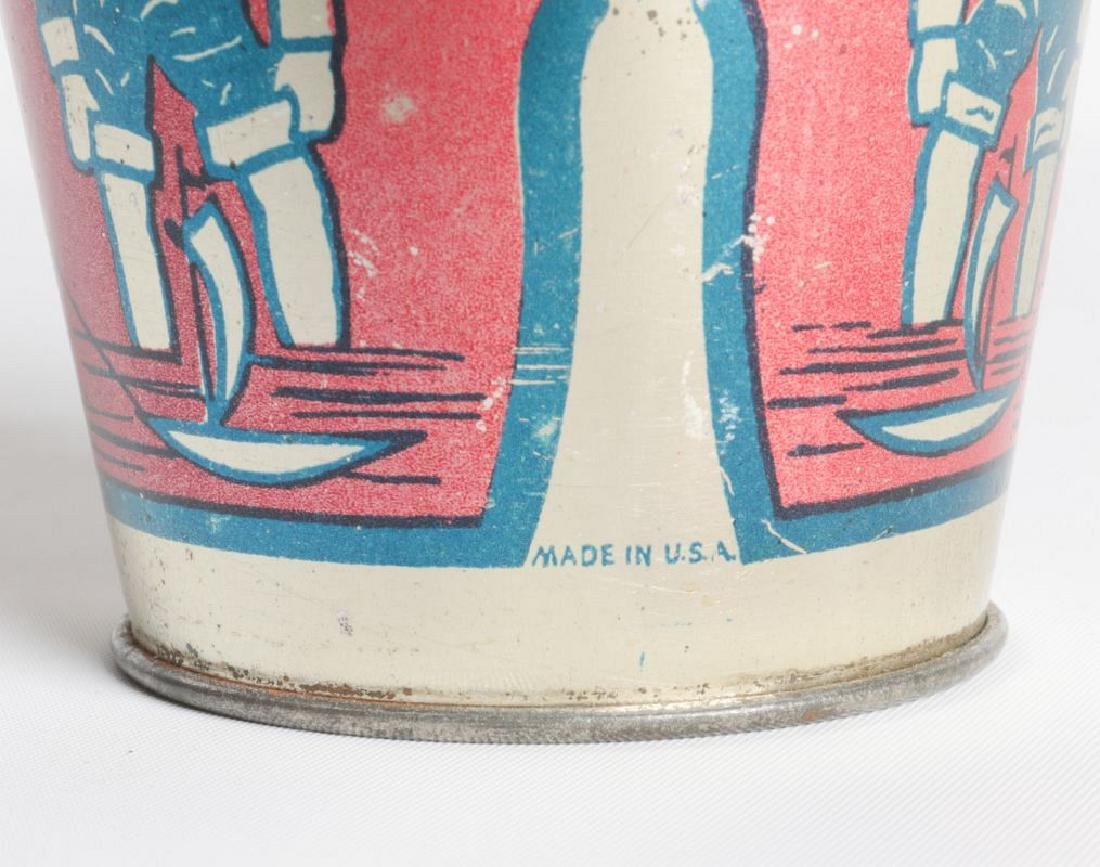A GOOD VICTORIAN MINIATURE TIN LITHO CHILD'S PAIL - 7