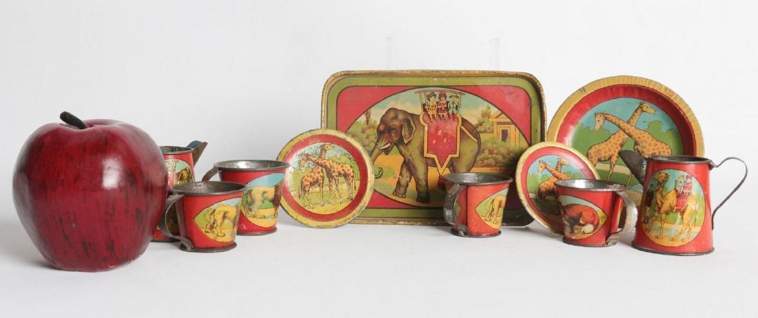A 1910s CIRCUS/AFRICAN ANIMAL THEME TIN LITHO SET - 2