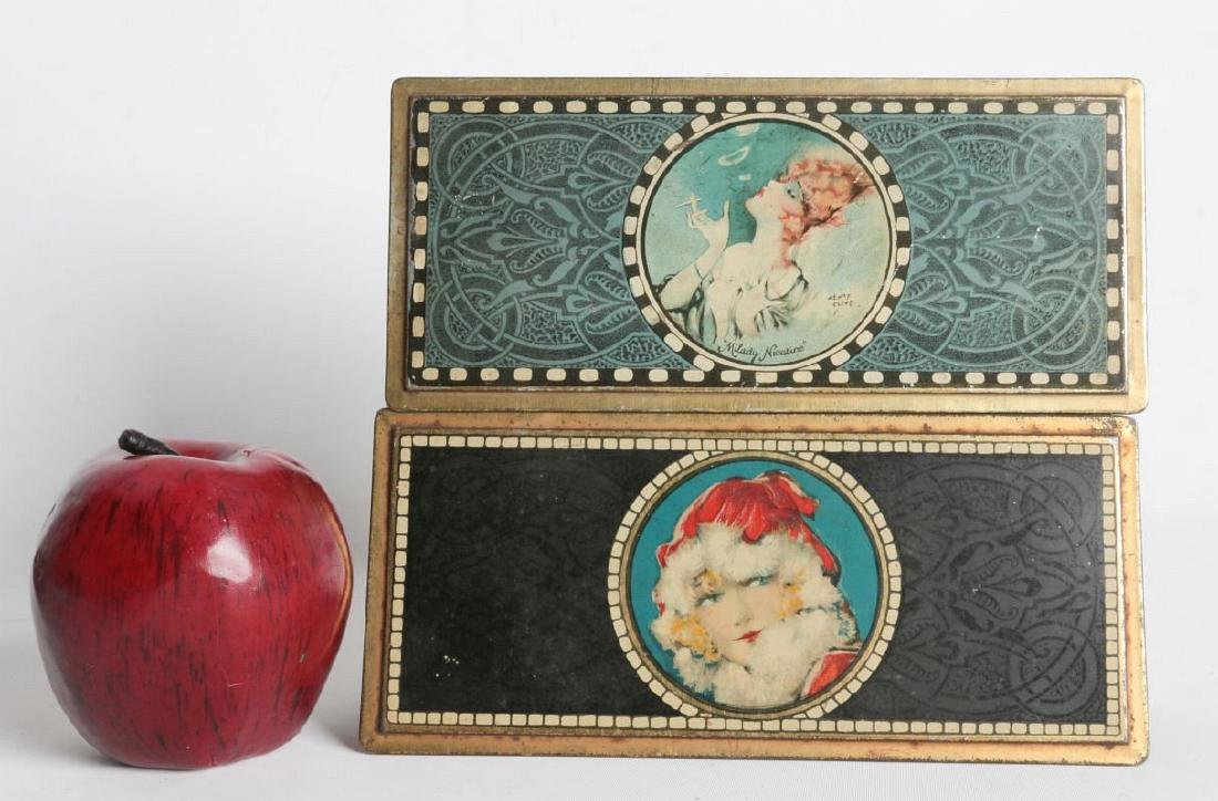 A PAIR OF HENRY CLIVE TIN LITHO HINGED TINS - 4