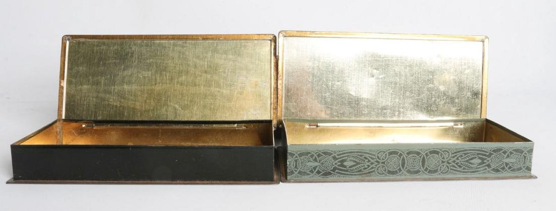 A PAIR OF HENRY CLIVE TIN LITHO HINGED TINS - 7