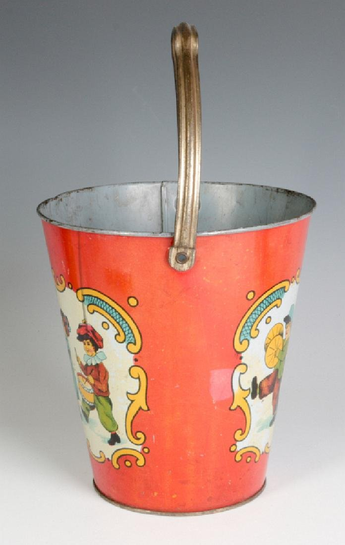 A TIN LITHO CHILD'S PAIL WITH MARCHING KIDS C 1920 - 5