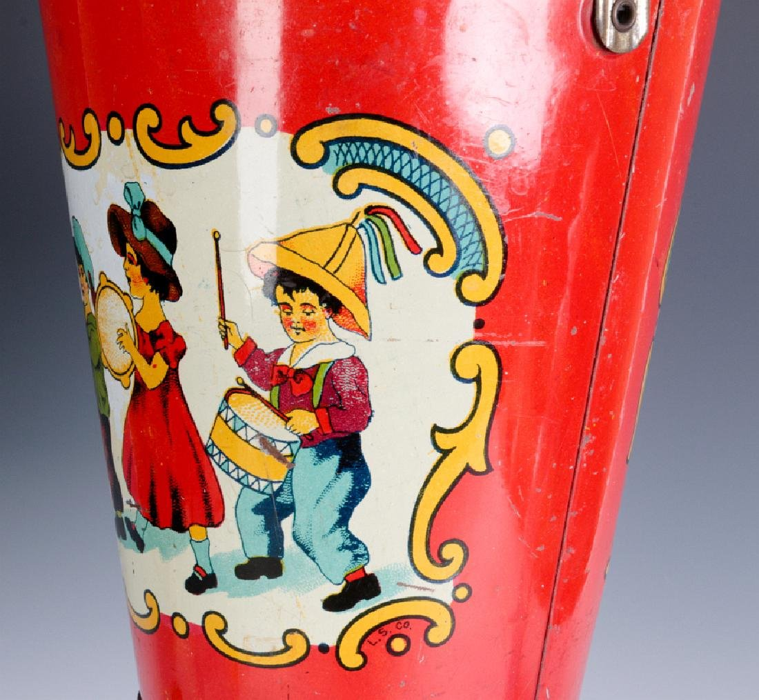 A TIN LITHO CHILD'S PAIL WITH MARCHING KIDS C 1920 - 7