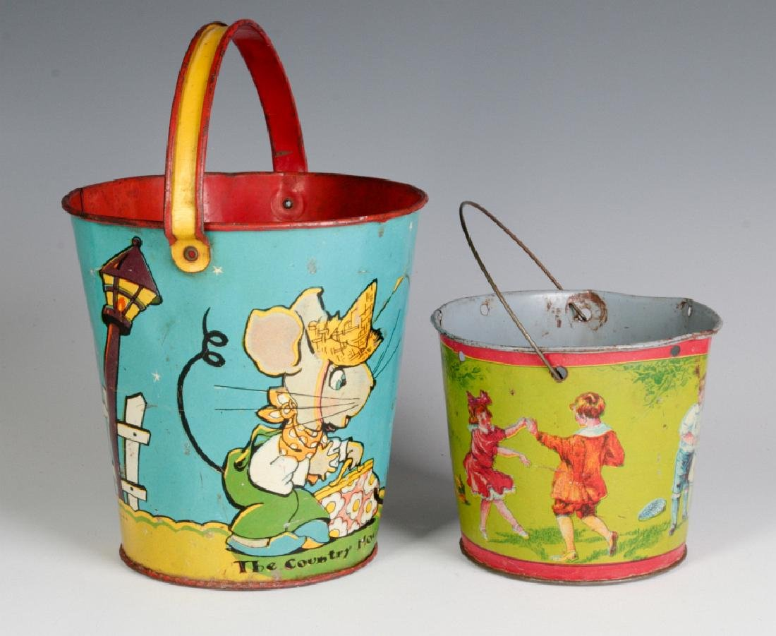 TWO TIN LITHO CHILD'S PAILS - 2