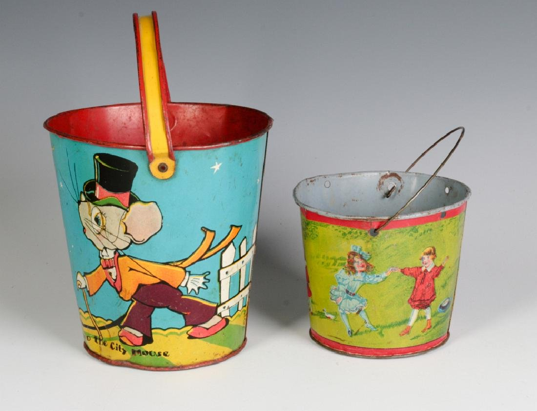 TWO TIN LITHO CHILD'S PAILS - 4