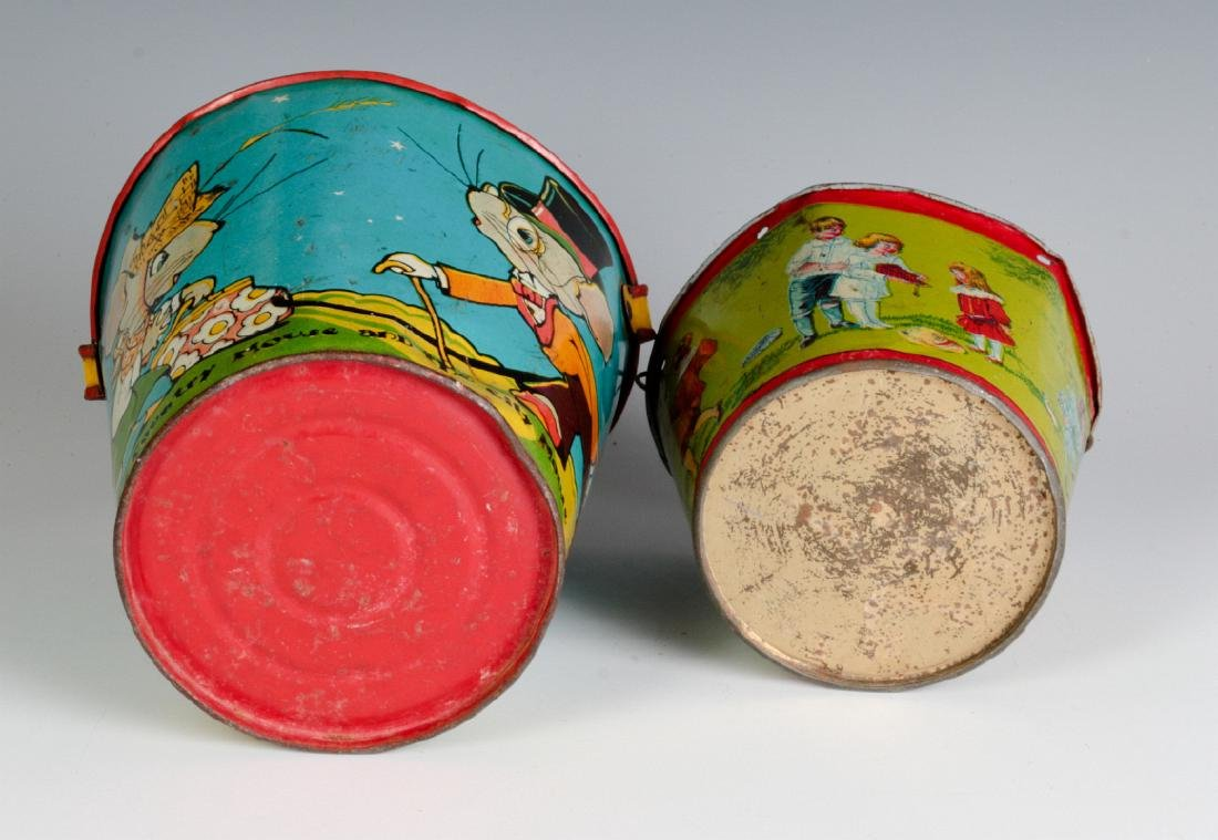 TWO TIN LITHO CHILD'S PAILS - 6