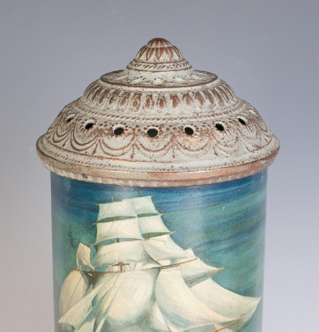 CIRCA 1930 MOTION LAMP WITH A NAUTICAL SCENE - 2