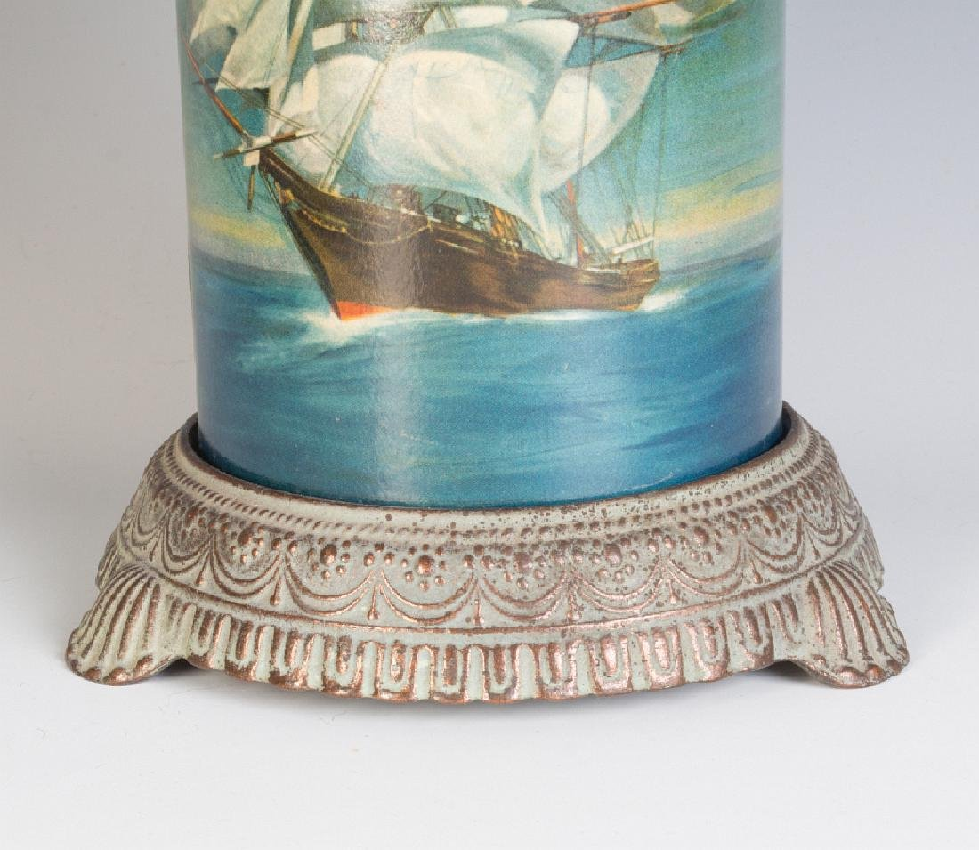 CIRCA 1930 MOTION LAMP WITH A NAUTICAL SCENE - 4