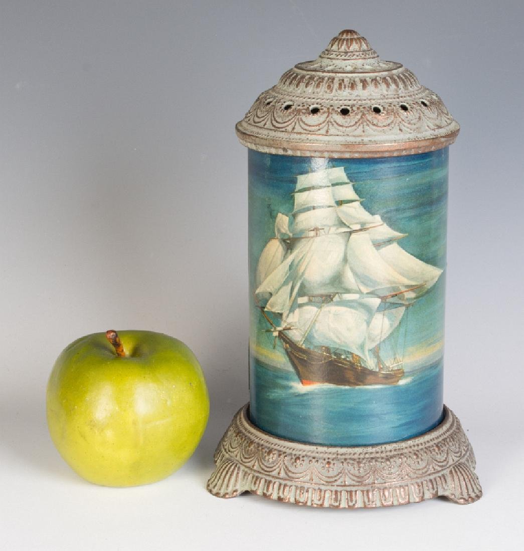 CIRCA 1930 MOTION LAMP WITH A NAUTICAL SCENE - 5
