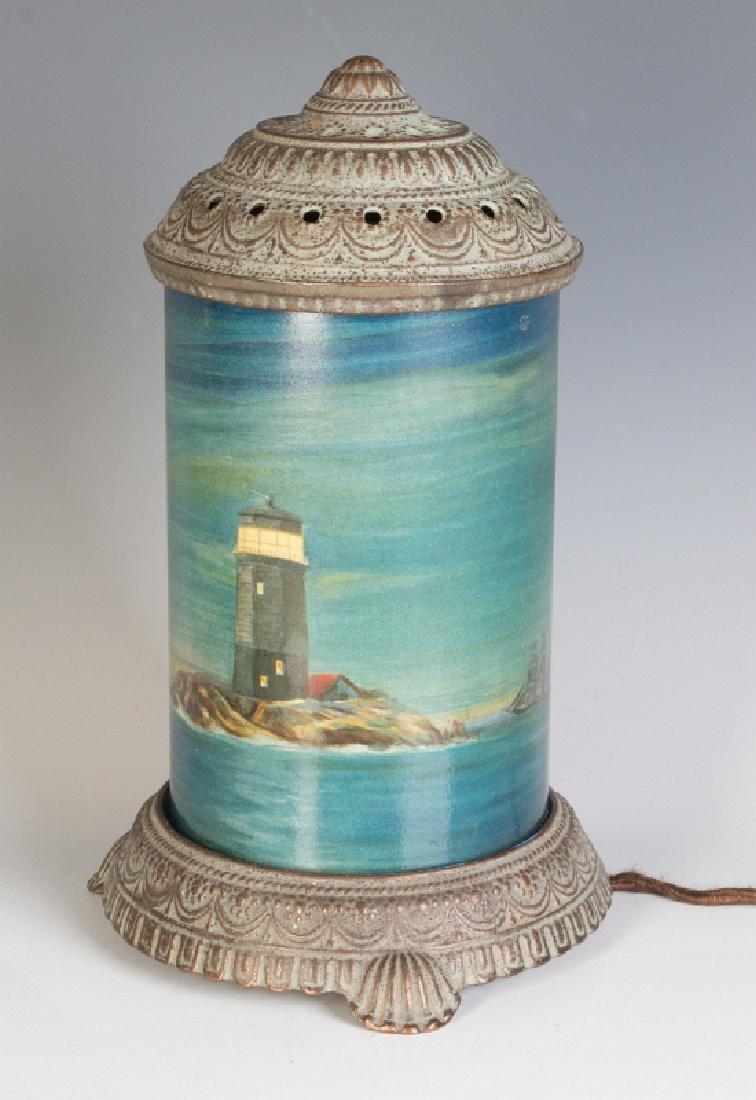 CIRCA 1930 MOTION LAMP WITH A NAUTICAL SCENE - 6