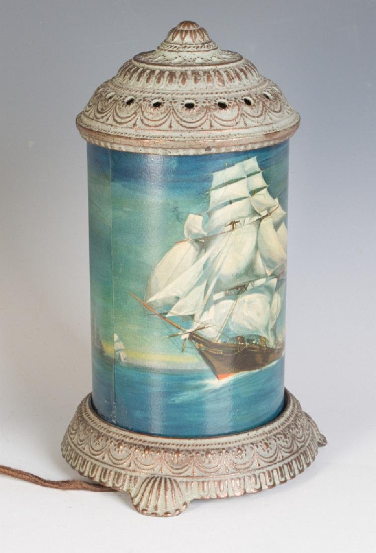 CIRCA 1930 MOTION LAMP WITH A NAUTICAL SCENE - 8