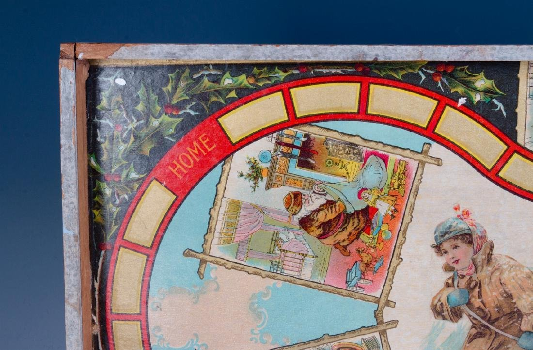 A VICTORIAN CHRISTMAS THEME BOARD GAME C. 1875 - 3