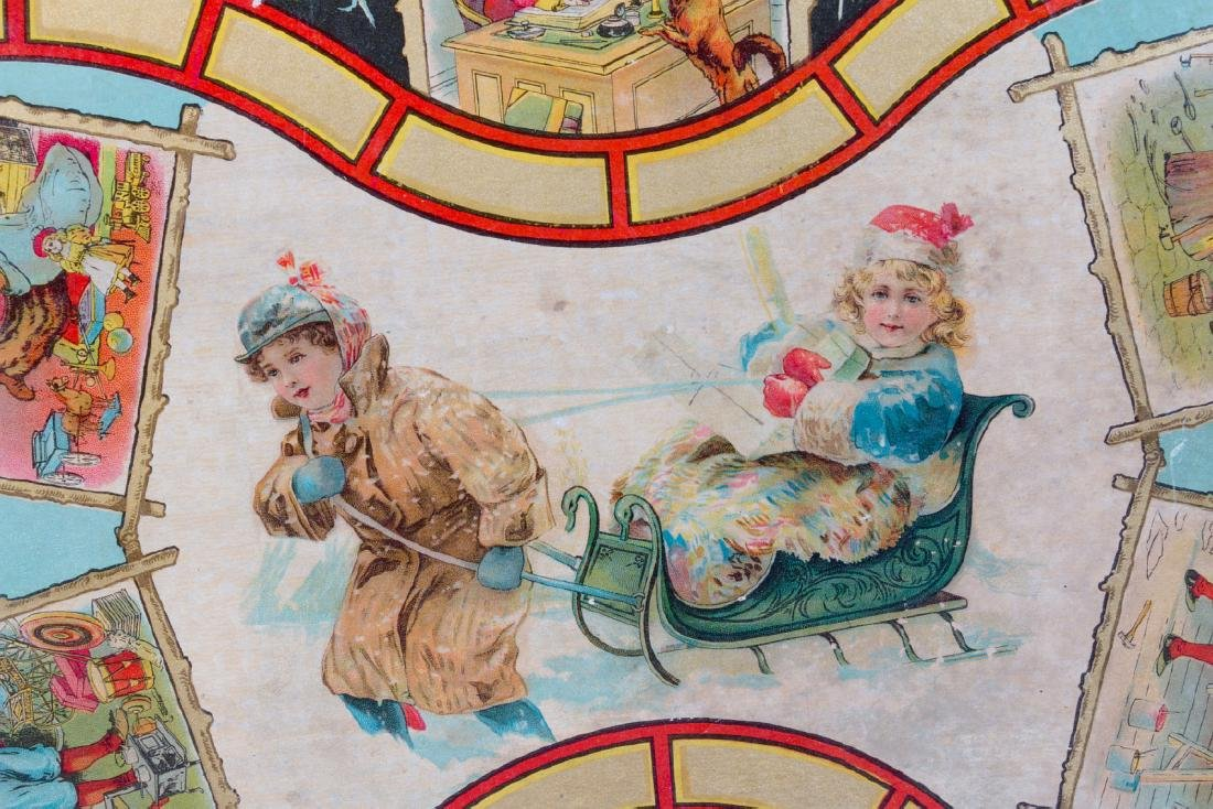 A VICTORIAN CHRISTMAS THEME BOARD GAME C. 1875 - 7