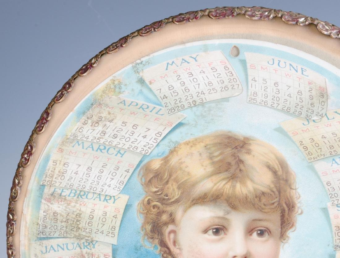 AN 1893 CHROMOLITHOGRAPH CALENDAR BEHIND GLASS - 3