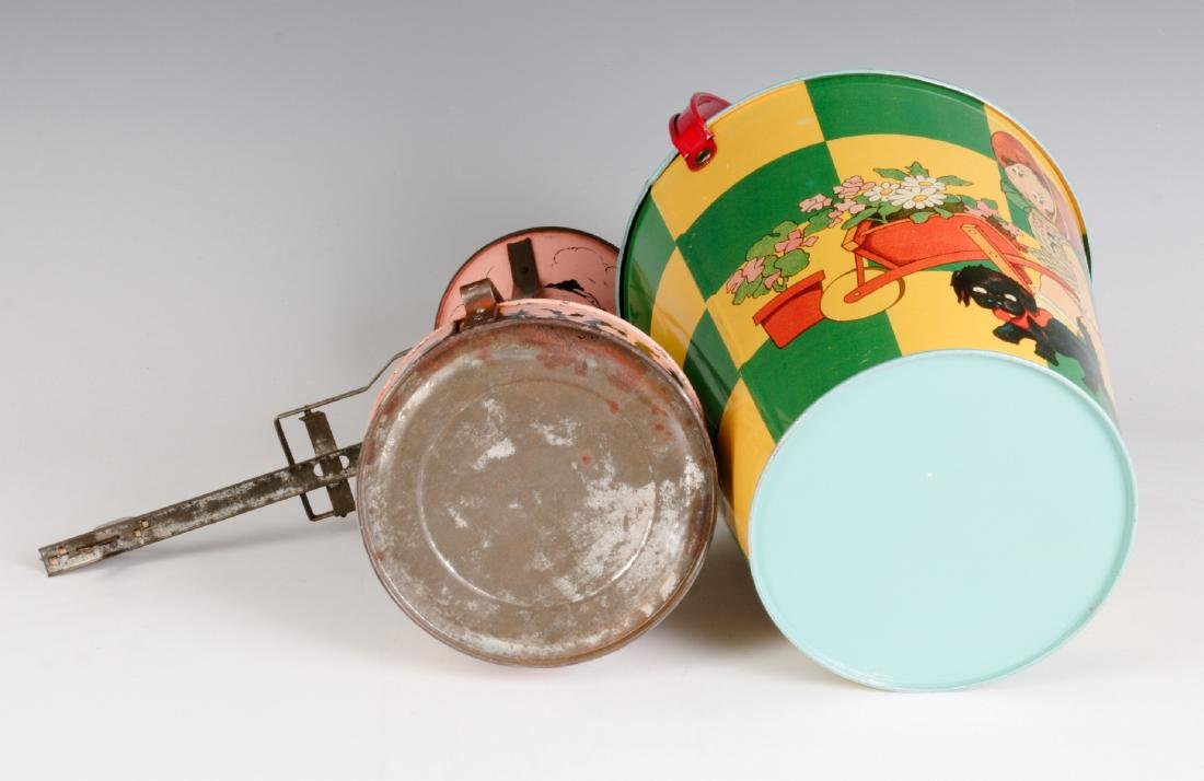 A TIN LITHO SEE-SAW SAND TOY AND NICE CHILD'S PAIL - 10