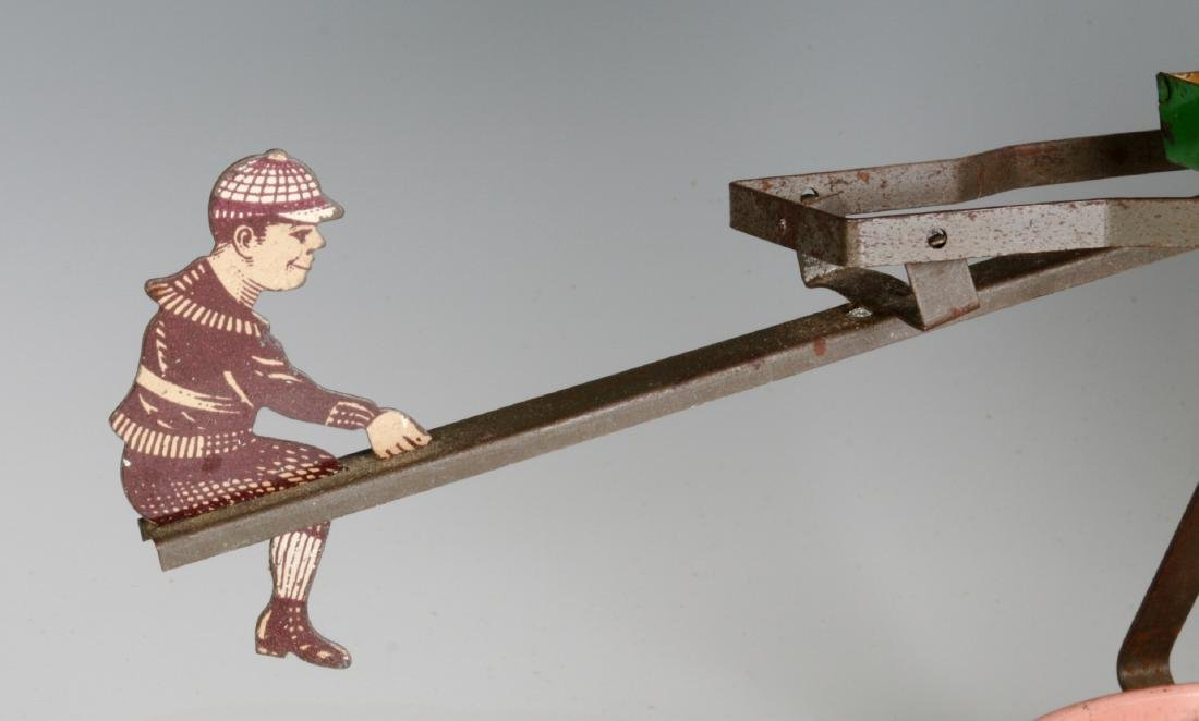 A TIN LITHO SEE-SAW SAND TOY AND NICE CHILD'S PAIL - 2