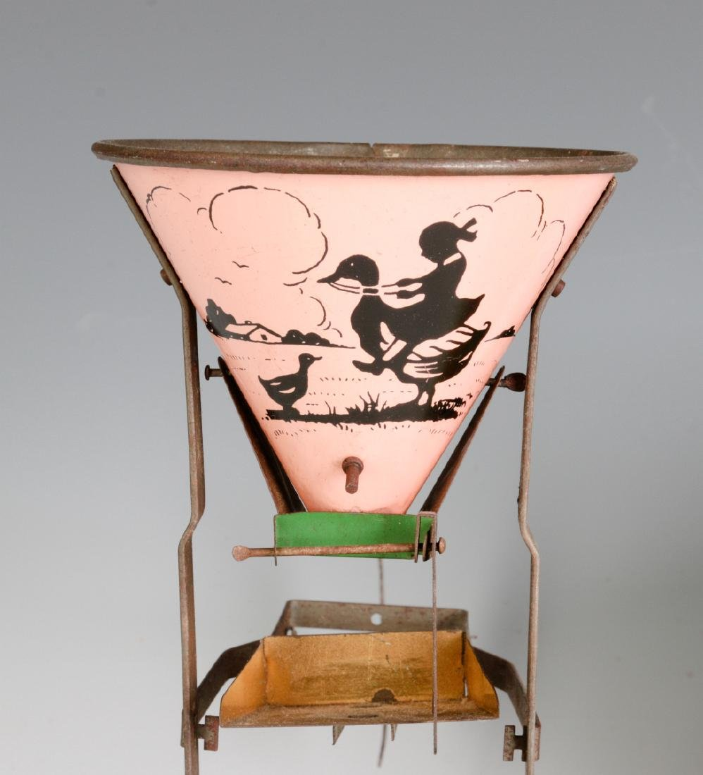 A TIN LITHO SEE-SAW SAND TOY AND NICE CHILD'S PAIL - 6
