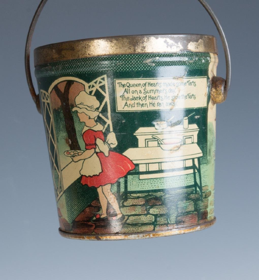 CIRCA 1930S TIN LITHO HARD CANDY TINS W/ RHYMES - 6