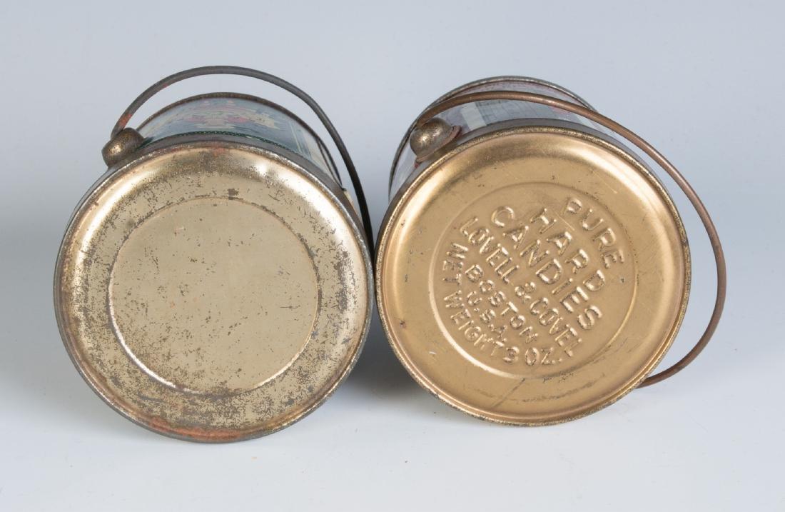CIRCA 1930S TIN LITHO HARD CANDY TINS W/ RHYMES - 7