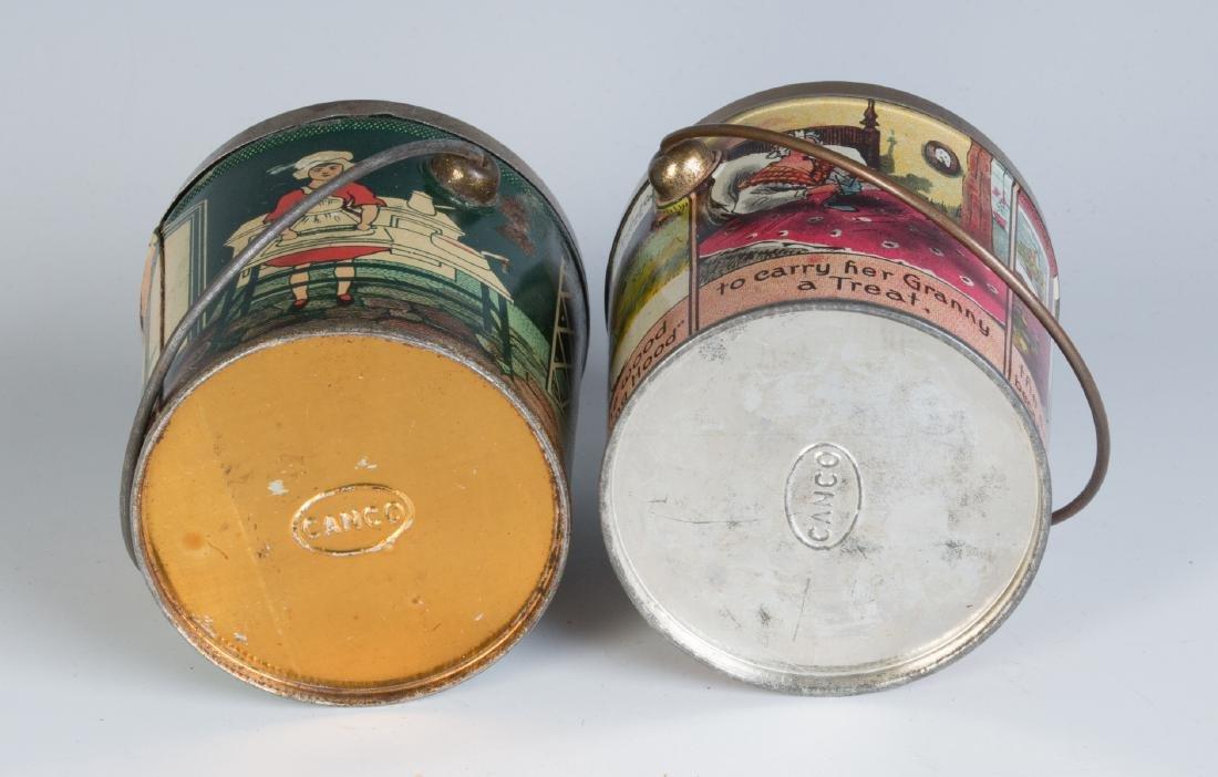 CIRCA 1930S TIN LITHO HARD CANDY TINS W/ RHYMES - 8