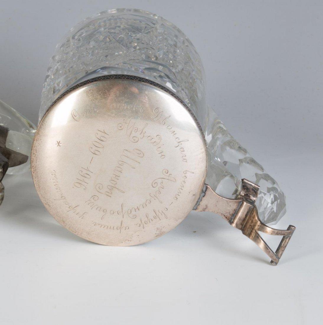 BACCARAT & RUSSIAN SILVER PRESENTATION STEIN, 1916 - 9