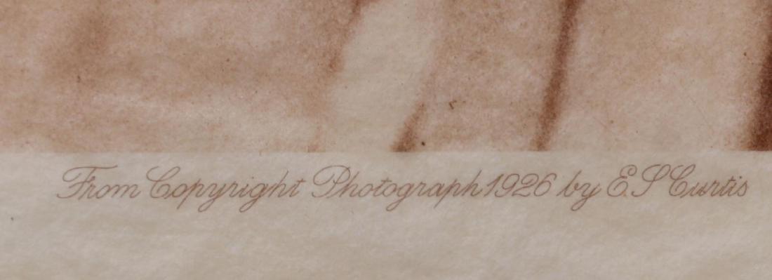 AN ORIGINAL LARGE FORMAT EDWARD S. CURTIS PHOTOGRAVURE - 8