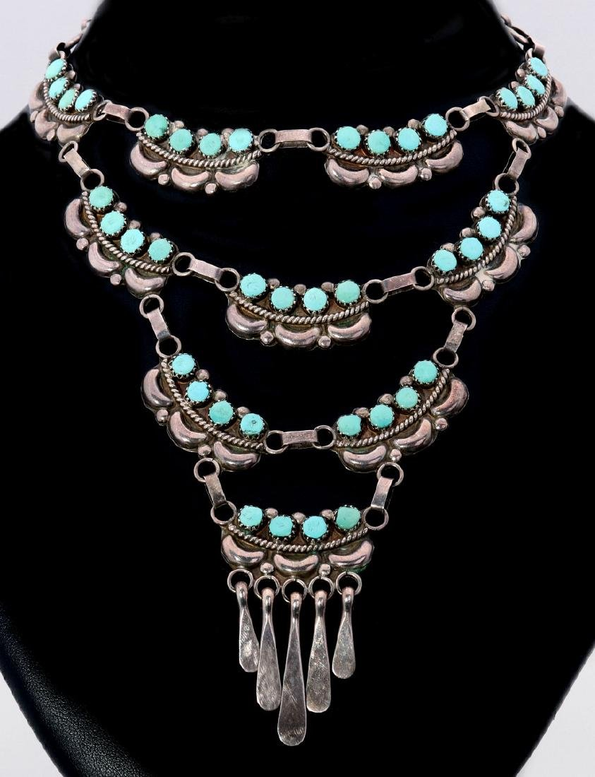FRED AND ELSIE LONCONSELLO ZUNI STERLING NECKLACE