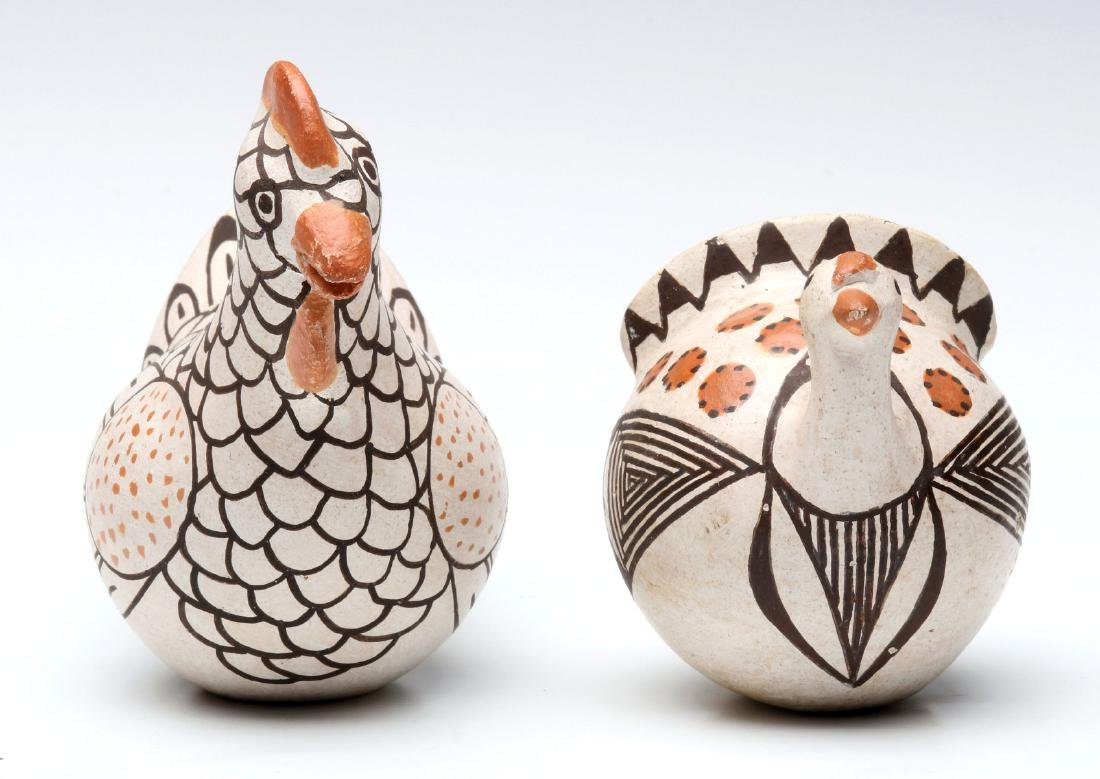 LUCY LEWIS AND M.Z. CHINO ACOMA POTTERY FIGURES - 6