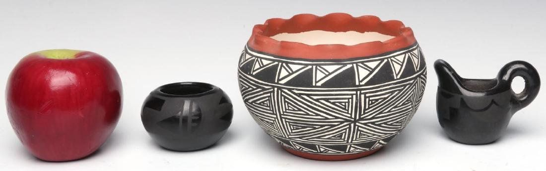 A COLLECTION OF SANTA CLARA AND ACOMA POTTERY - 7