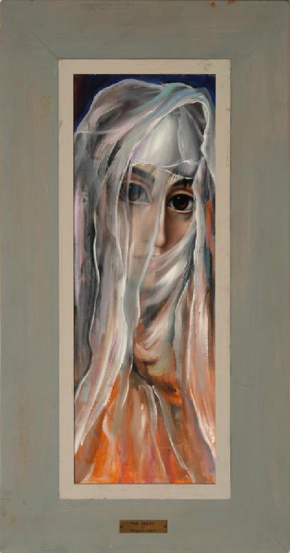 ATTRIBUTED MARGARET KEANE (B. 1927) OIL ON CANVAS - 2
