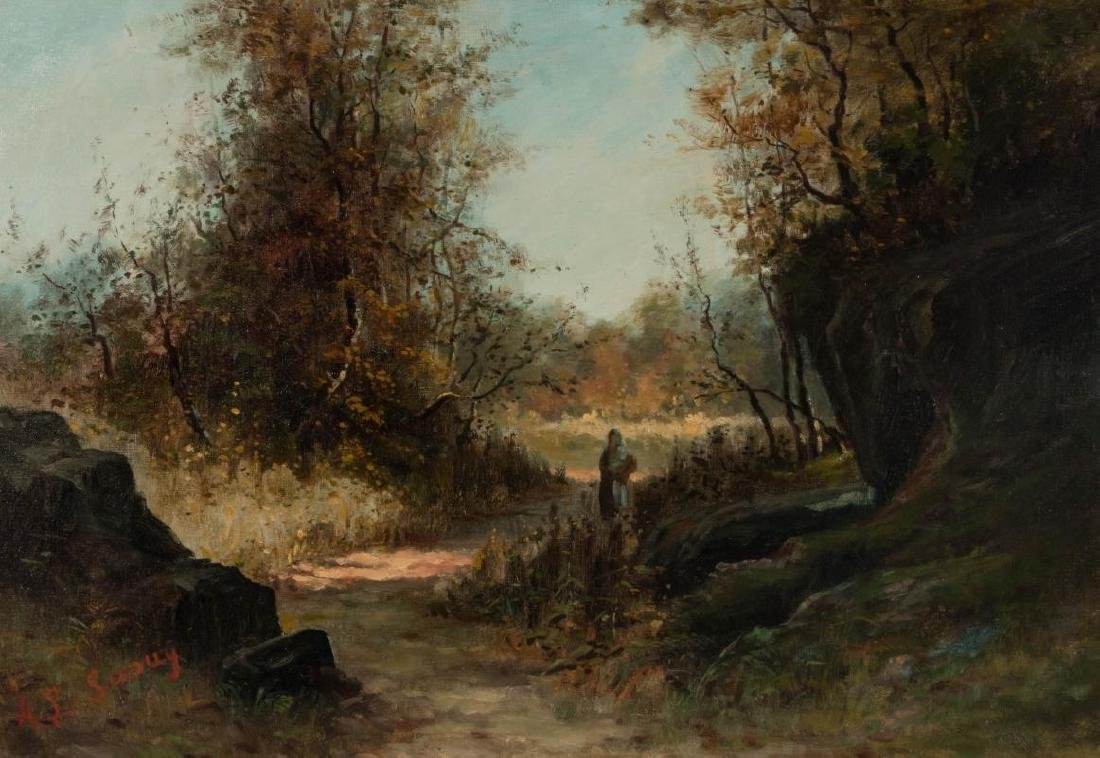ACHILLE LOUIS JOSEPH SIROUY (1834-1904) OIL/CANVAS