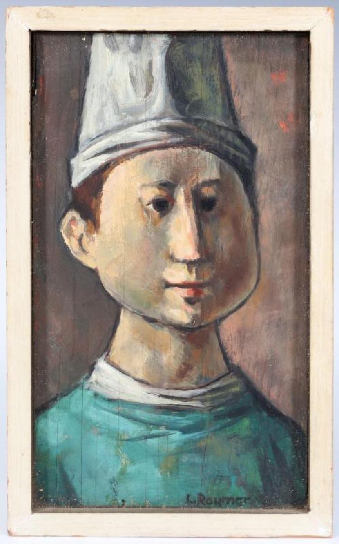LESTER RAYMER (1907-1991) OIL ON PANEL, 1963