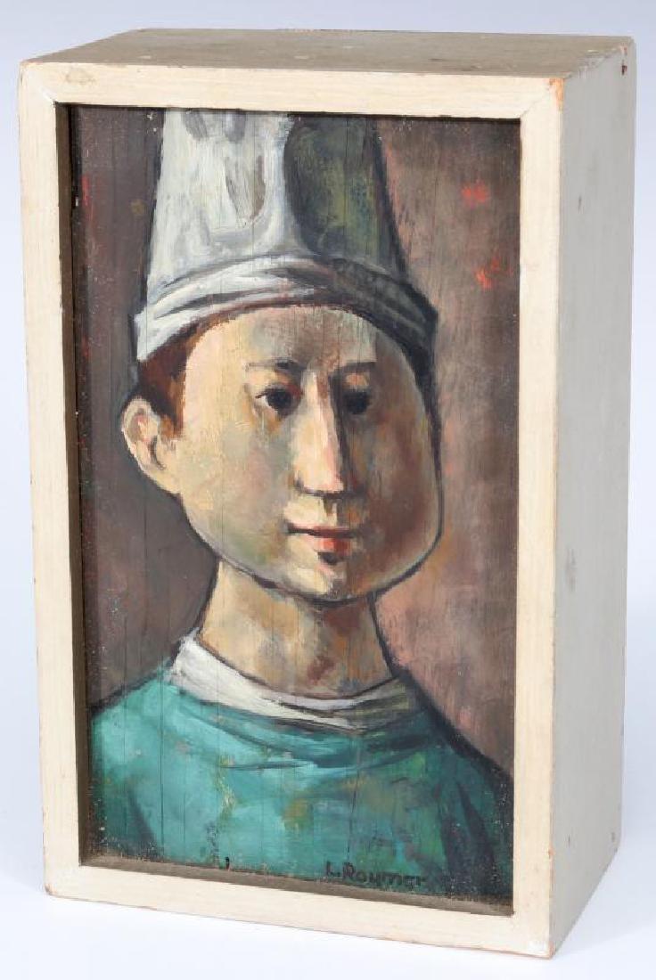 LESTER RAYMER (1907-1991) OIL ON PANEL, 1963 - 2