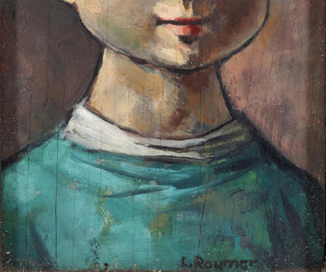 LESTER RAYMER (1907-1991) OIL ON PANEL, 1963 - 4