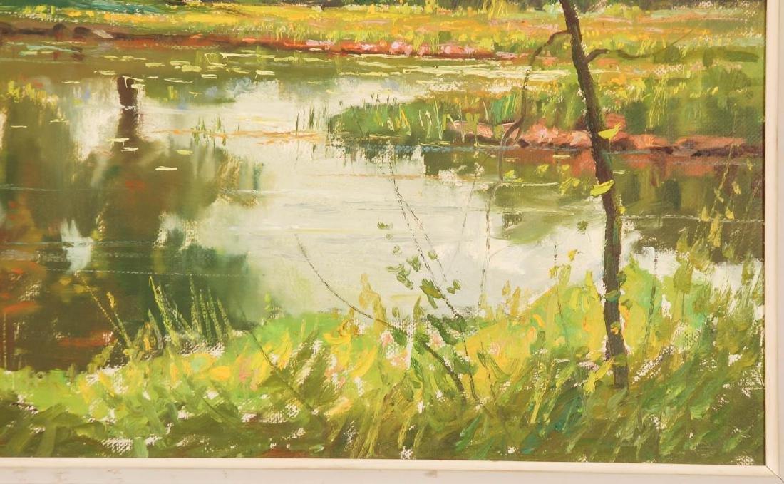 WAYNE MORRELL (1923-2013) OIL ON CANVAS LANDSCAPE - 5